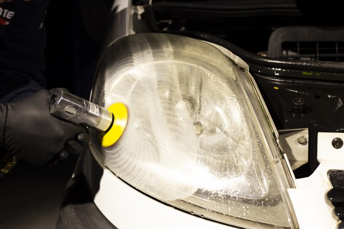Sanding headlight